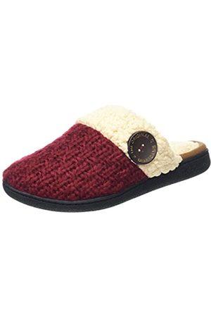 Dearfoams Damen Textured Knit Closed Toe Scuff Pantoffeln, Türkis (Cabernet 10604)