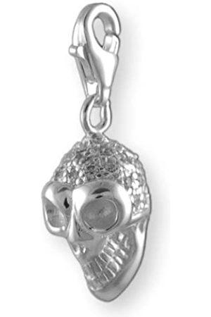 Melina Damen-Charm Anhänger Totenkopf Zirkonia 925 Sterling 1800221
