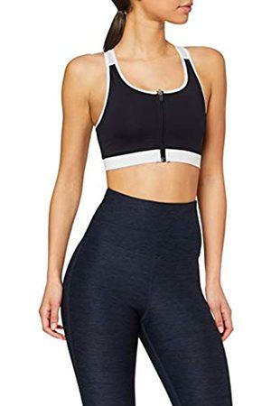 AURIQUE Amazon-Marke: Damen Sport-BH für mittleren Halt mit Reißverschluss, XS