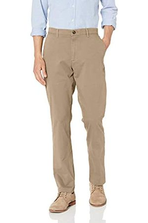 Amazon Herren-Hose mit sportlicher Passform, Stretch, Khaki
