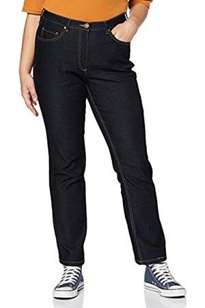 Ulla Popken Große Größen Damen Straight Leg Straight Jeans Jeans Regular Fit Stretch, K 70351693, Gr. 52 (Herstellergröße: 26)