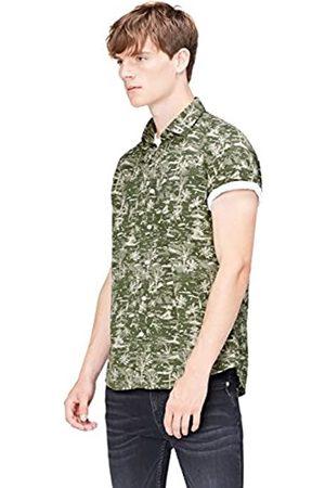 FIND Herren Regular Fit Kurzarm-Hawaii-Hemd