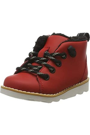 Clarks Jungen Crown Tor T Klassische Stiefel, (Red Leather Red Leather)