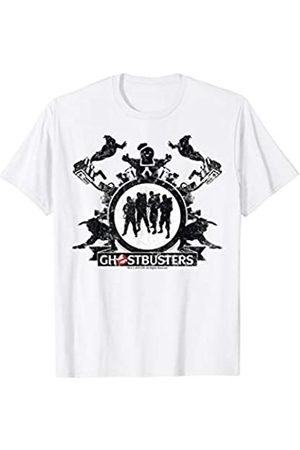Ghostbusters Group Shot Silhouette Distressed Poster T-Shirt