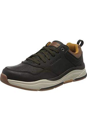 Skechers Herren Benago-Treno Sneaker, (Black Leather Blk)