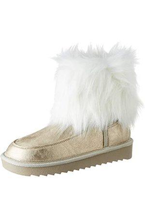 D.franklin Damen Nordick Basic Big Fur Schlupfstiefel, (Platino 0207)