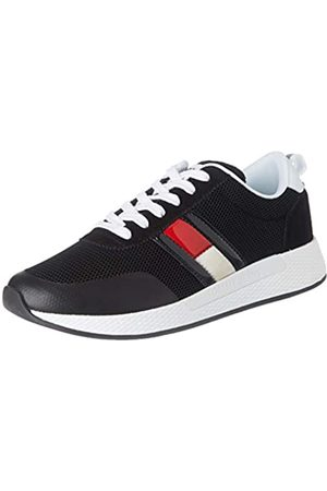 Tommy Hilfiger Damen Technical Flexi Runner Sneaker, (Black Bds)