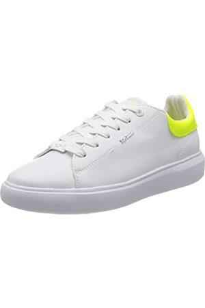 TOM TAILOR Damen 8090601 Sneaker, Mehrfarbig (White-Neon Yellow 02704)