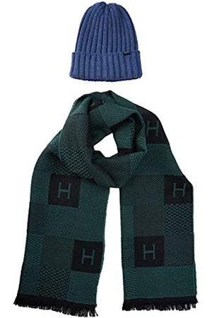 Hackett Herren Mütze, Schal & Handschuh-Set H CHK Scarf&Beanie, 2er Pack
