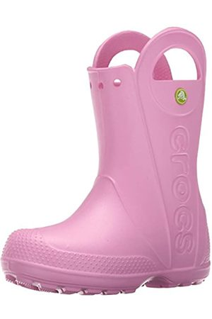 Crocs Handle It Rain Boot, Unisex - Kinder Gummistiefel, Pink (Carnation)