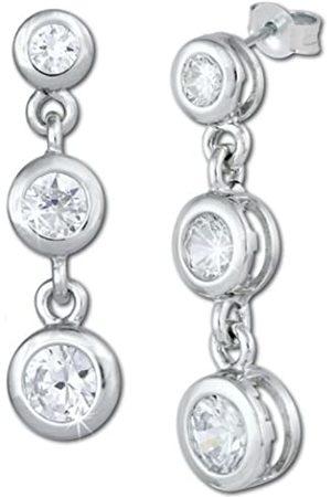 SilberDream Damen-Ohrstecker 925 Sterling Silber Zirkonia VSDO278W