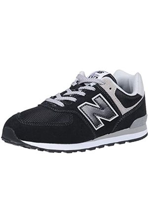 New Balance Unisex-Kinder GC574GK Core Lace Sneaker (Black/Grey) 39 EU