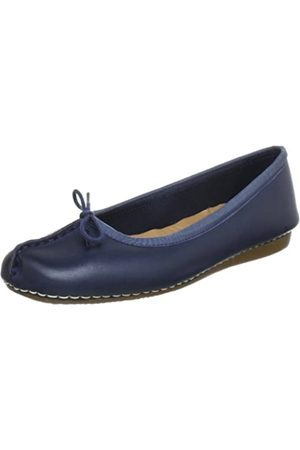 Clarks Freckle Ice, Damen Mokassin, (Navy Leather)