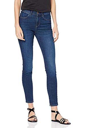 Wrangler Damen Skinny Jeans HIGH RISE SKINNY, (Blue Pike 34M)