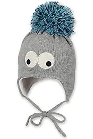 Sterntaler Mütze für Jungen mit Bommel und lustigen Augen, Gefüttert mit Baumwoll-Fleece, Alter: 3-4 Monate, Größe: 39