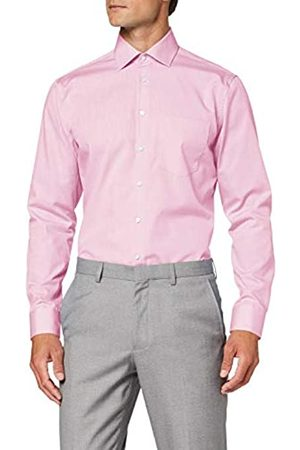 Seidensticker Herren Einfarbiges, Schickes Hemd Mit Extra Kent-Kragen – Regular Fit – Langarm Businesshemd