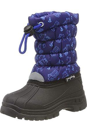 Playshoes Unisex-Kinder Winter-Bootie Verkehr Schneestiefel, (Marine 11)