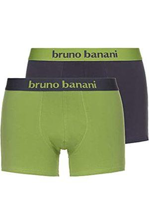 Bruno Banani Herren Short 2er Pack Flowing Boxershorts, Mehrfarbig (Schlamm//Kiwi 4006)