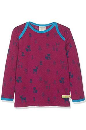 loud + proud Kinder-Unisex Shirt Woll-Anteil, Druck Langarmshirt