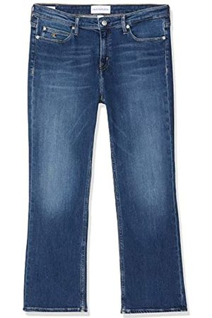 Calvin Klein Damen Rise Crop Flare Straight Jeans
