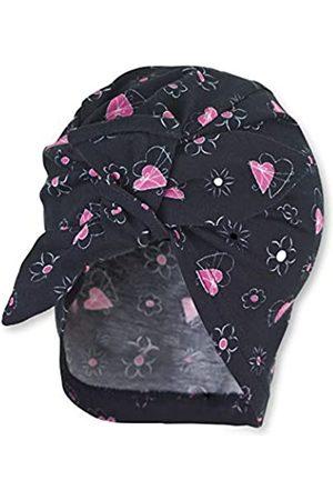 Sterntaler Knotenmütze für Mädchen mit Herz-/Blumen-Motiven, Alter: 9-12 Monate, Größe: 47