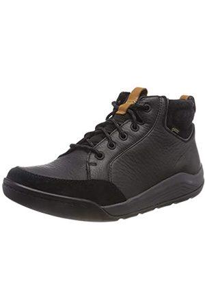 Clarks Herren AshcombeMidGTX Chelsea Boots, (Black Leather)