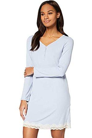 IRIS & LILLY Amazon-Marke: Damen Nachthemd Rib Lace Trim, XXL