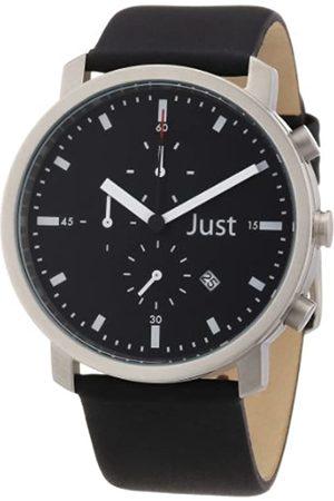 Just Watches Unisex-Armbanduhr Analog Leder 48-S3195-BK