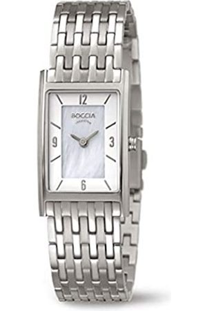 Boccia Damen Analog Quarz Uhr mit Titan Armband 3212-07