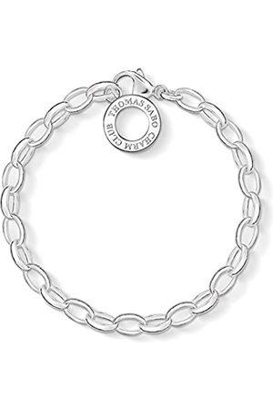 Thomas Sabo Damen-Charm-Armband Charm Club 925 Sterling Länge 16 cm X0032-001-12-S