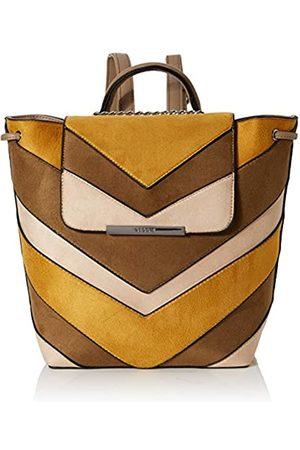 Bessie London Damen Suede Colour Block Drawstring Backpack Rucksackhandtasche