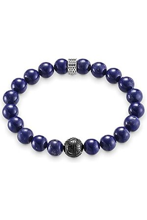 Thomas Sabo Damen Herren-Armband Rebel at Heart 925 Sterling geschwärzt Zirkonia schwarz blau Länge 19 cm A1534-930-32-L19