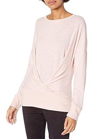 Daily Ritual Cozy Knit Pleat Front Draped Fashion-Sweatshirts