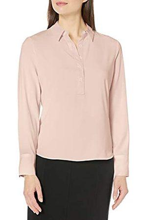 Lark & Ro Long Sleeve Popover Damen Collared Blouse Dress-Shirt