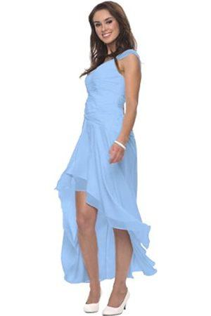 Astrapahl Damen Cocktail Kleid mit schönen Raffungen, Knielang, Einfarbig