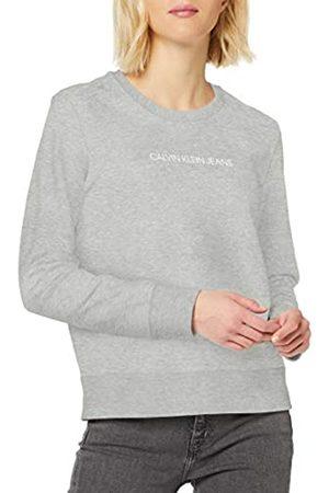Calvin Klein Damen Institutional Regular Crew Neck Sweatshirt