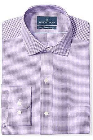 Buttoned Down Classic Fit Spread Collar Pattern Smoking Hemd, purple small gingham
