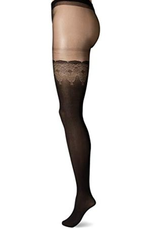 Pretty Polly Damen Pretty Flirty Lace Mock Hold Ups Strumpfhose, 10 DEN