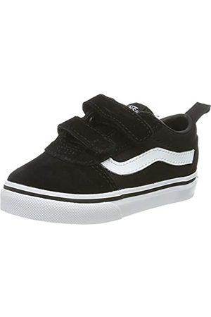 Vans Unisex Baby Ward V-Velcro Sneaker, ((Suede/Canvas) Black/White Iju)