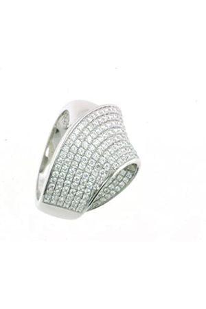 Vilma Righi Damen-Ring rhodiniert weisse Zirkonia 925 Sterling Silber Gr. 60 (19.1)