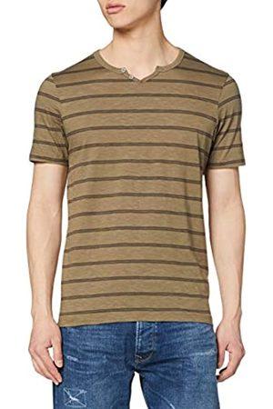 Jack & Jones PREMIUM Herren JPRBEN Stripe BLU. Split Neck Tee PRE T-Shirt