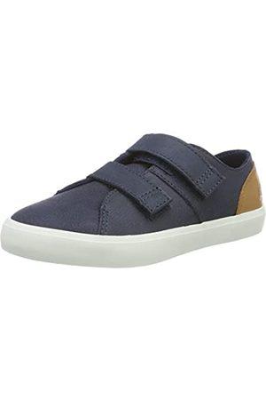 Timberland Unisex-Kinder Newport Bay Leather-2-Strap Sneaker, (Navy)
