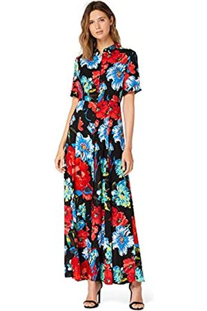 TRUTH & FABLE Amazon-Marke: Damen Maxi-Blumenkleid mit A-Linie, 40