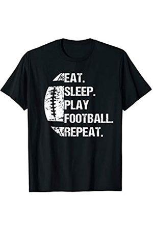 American Football Quarterback Geschenk Eat Sleep Play Football Repeat T-Shirt
