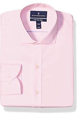 Buttoned Down Slim Fit Cutaway Collar Solid Non-iron Dress Shirt Smoking Hemd, Light Pink)