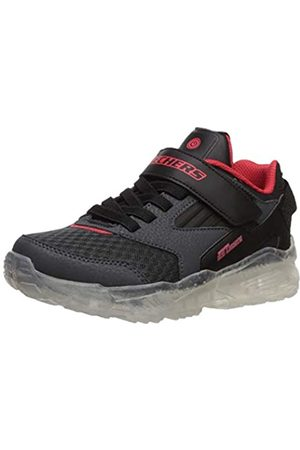 Skechers Boys' Arctic-Tron-zollow Trainers, Grey (Charcoal Textile/Black Synthetic/Red Trim Ccbk)
