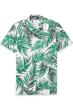28 Palms Amazon-Marke - Poloshirt Herren, bequeme Passform, aus Performance-Baumwolle mit tropischem Muster, Piqué-Poloshirt