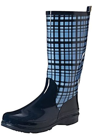 Playshoes Damen Gummistiefel, trendiger Regenstiefel aus Naturkautschuk, mit herausnehmbarer Innensohle, mit Karo-Muster, ( 7)