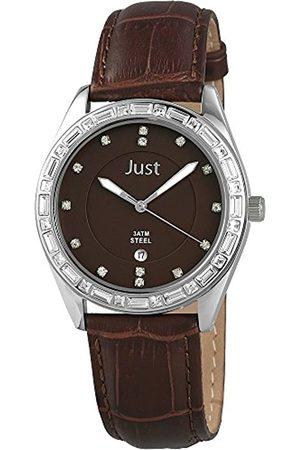 Just Watches Damen-Armbanduhr Analog Quarz Leder 48-S8262A-BR