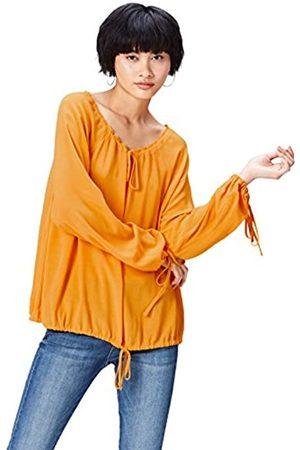 FIND Bluse Damen mit Schluppen und weitem Rundhalsausschnitt